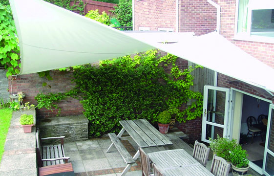 Garden shade sail & Garden canopies custom made to the highest specification by ...